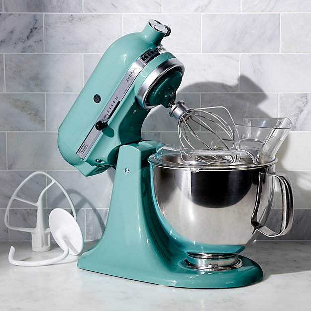 kitchenaid ksm150psaq artisan aqua sky stand mixer crate and barrel. Black Bedroom Furniture Sets. Home Design Ideas