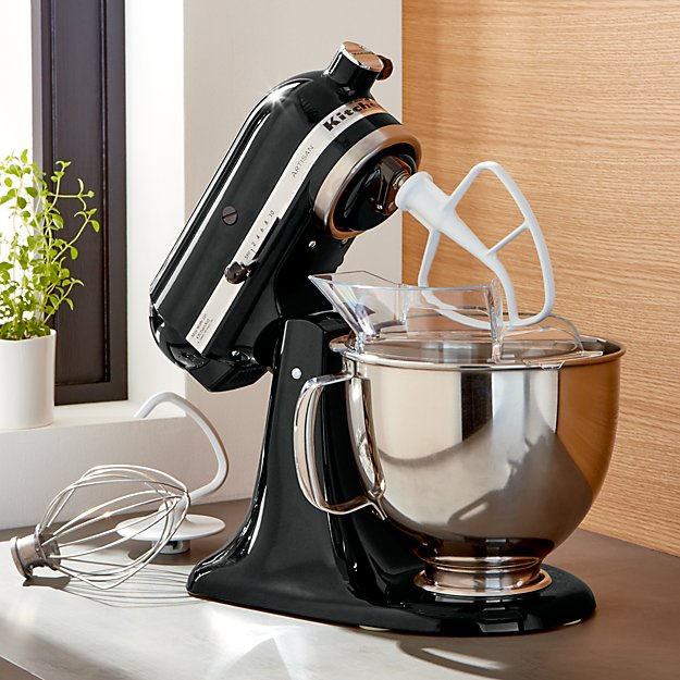 Kitchenaid Ksm150psob Onyx Black Stand Mix Reviews Crate And Barrel