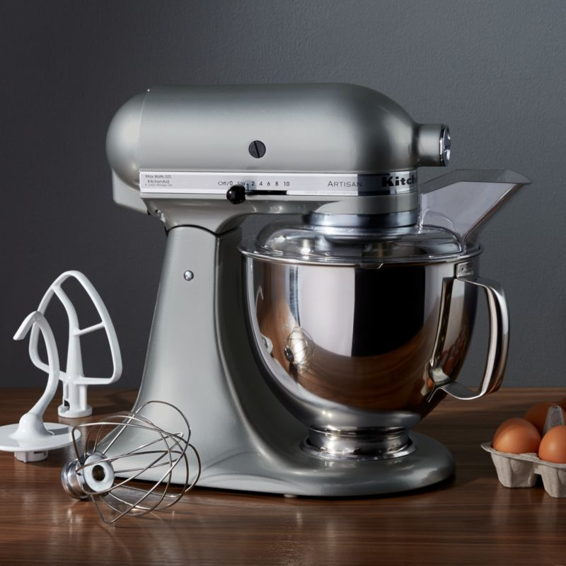 KitchenAid Artisan Series Matte Fresh Linen 5 Quart Tilt Head Stand Mixer +  Reviews | Crate And Barrel