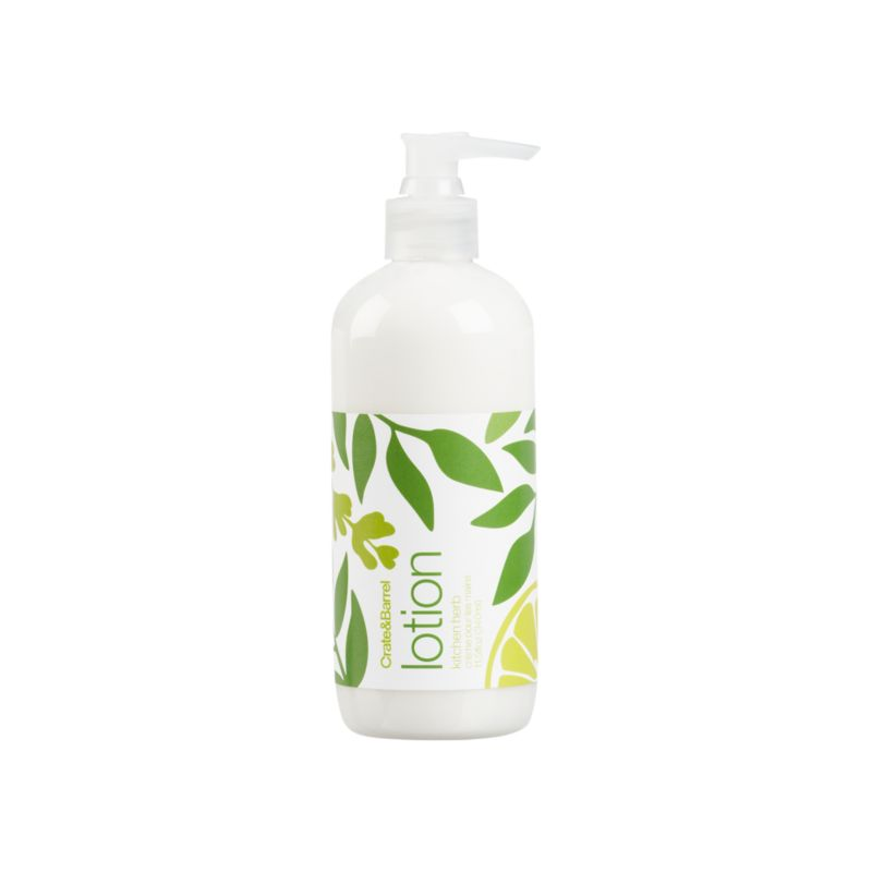 Water-based herbal lotion from Caldrea. Essential oils of spearmint, basil and lavender get a citrus kick from lemon. Biodegradable, plant-derived ingredients promise a gentle touch. Contains healing aloe vera, and moisturizing shea butter and glycerine. A small squirt of this concentrated, biodegradable formulation goes a long way.<br /><br /><NEWTAG/><ul><li>Plant-derived ingredients</li><li>Recyclable PET bottle</li><li>Not tested on animals</li></ul>