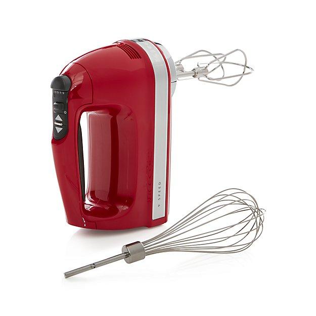 KitchenAid ® Empire Red 9-Speed Hand Mixer - Image 1 of 2