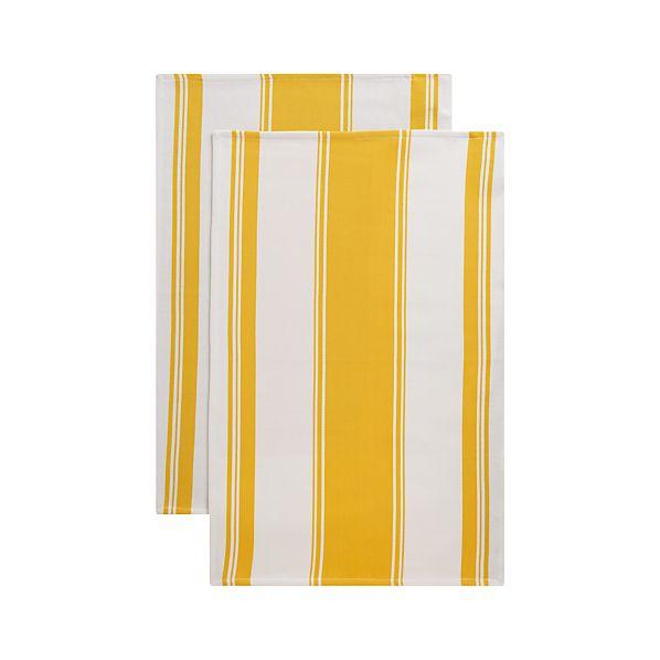 Set of 2 Kitchenette Yellow Dish Towels