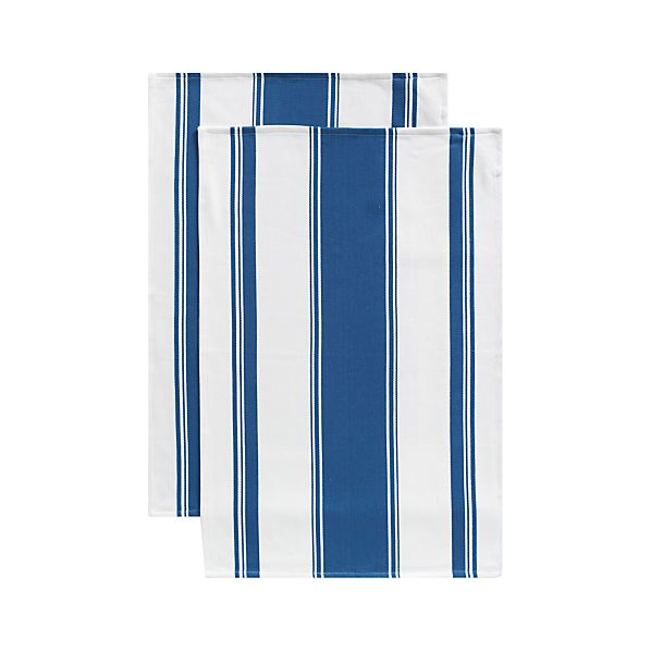 Set of 2 Kitchenette Indigo Dish Towels