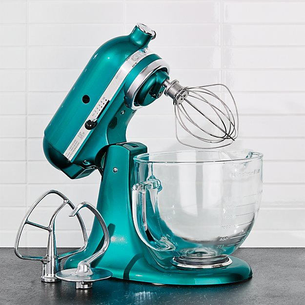 Kitchenaid Design Series Sea Gl Stand Mixer Reviews Crate And Barrel