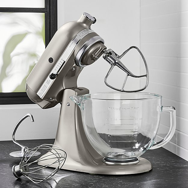 KitchenAid Artisan Design Series Sugar Pearl Silver Stand Mixer + ...