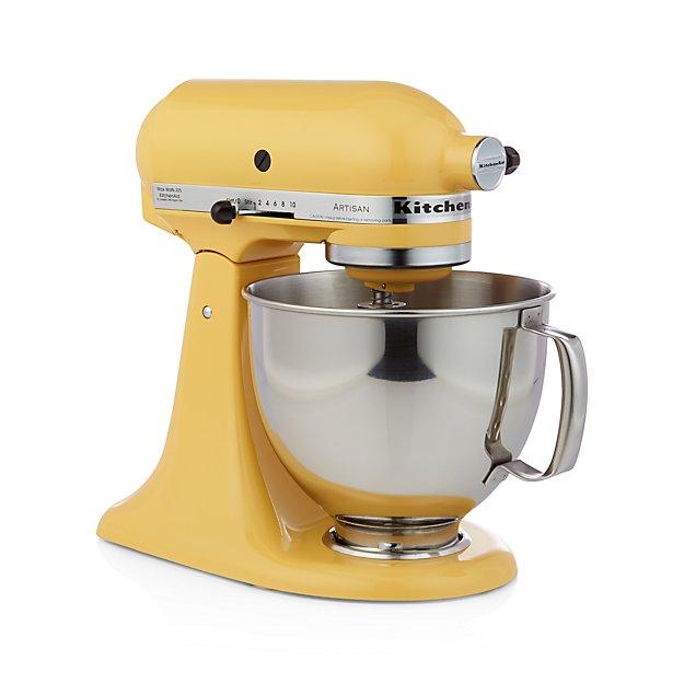 KitchenAid KSM150PSBF Artisan Buttercup Stand Mixe + Reviews | Crate And  Barrel