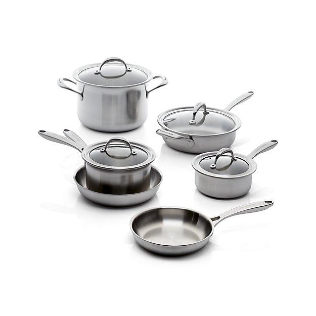 Functional Copper Kids Kitchen Set: KitchenAid 10-Piece Copper Core Cookware Set