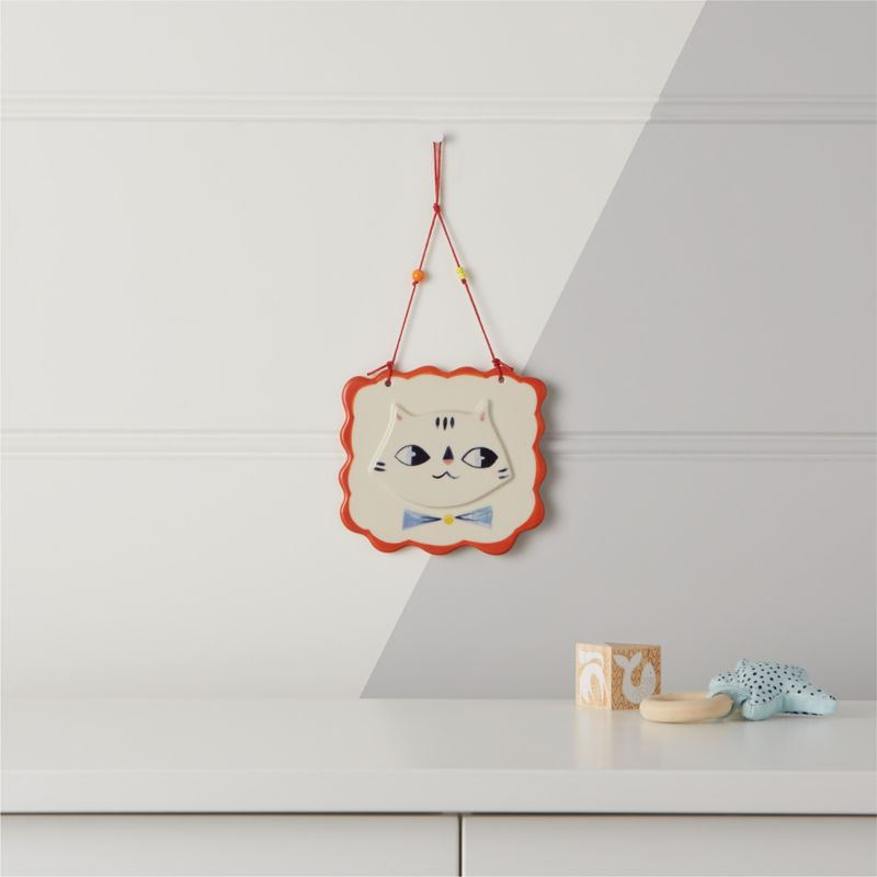 Kitty Cat Wall Plaque by Crate&Barrel