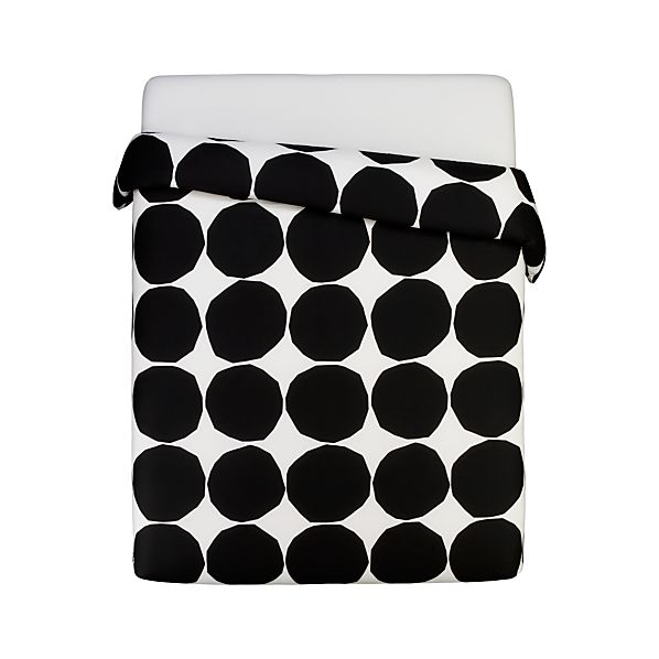 Marimekko Kivet Black Full/Queen Duvet Cover