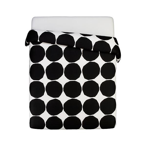 Marimekko Kivet Black King Duvet Cover