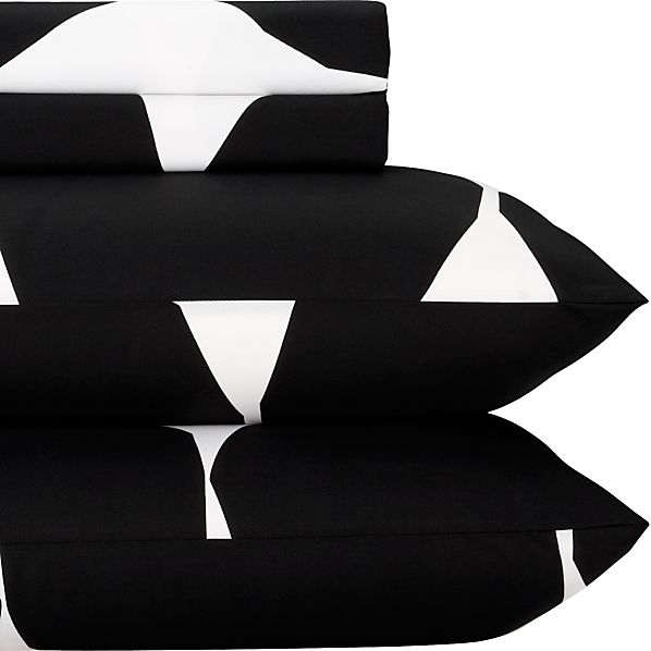 Marimekko Kivet Black Full Sheet Set