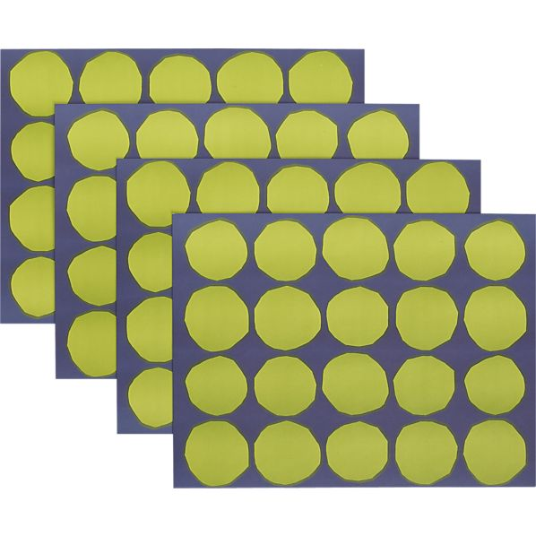 Set of 24 Marimekko Kivet Green and Blue Paper Placemats