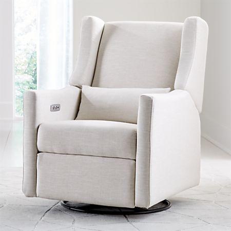 Prime Babyletto Kiwi Ivory Power Recliner Glider Creativecarmelina Interior Chair Design Creativecarmelinacom