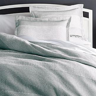 Kiyomi Grey Striped Duvet Covers and Pillow Shams