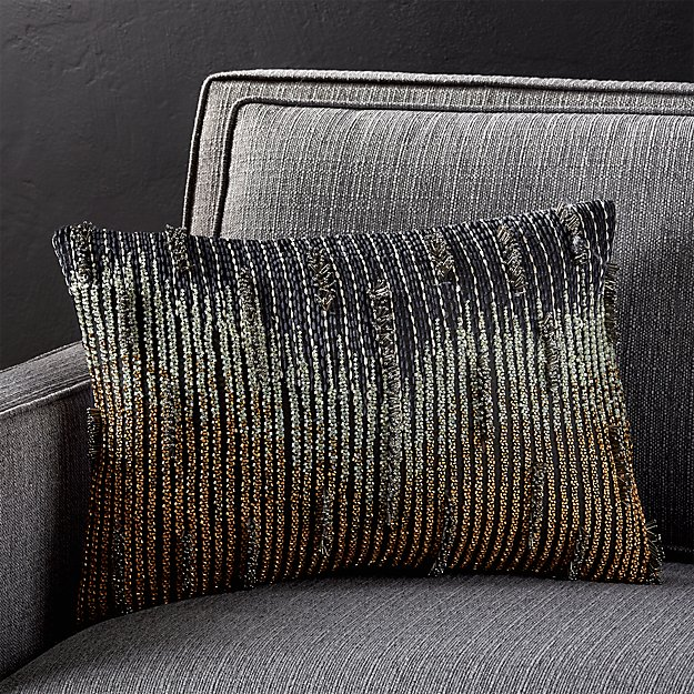 """Klara 18""""x12"""" Pillow with Feather-Down Insert"""