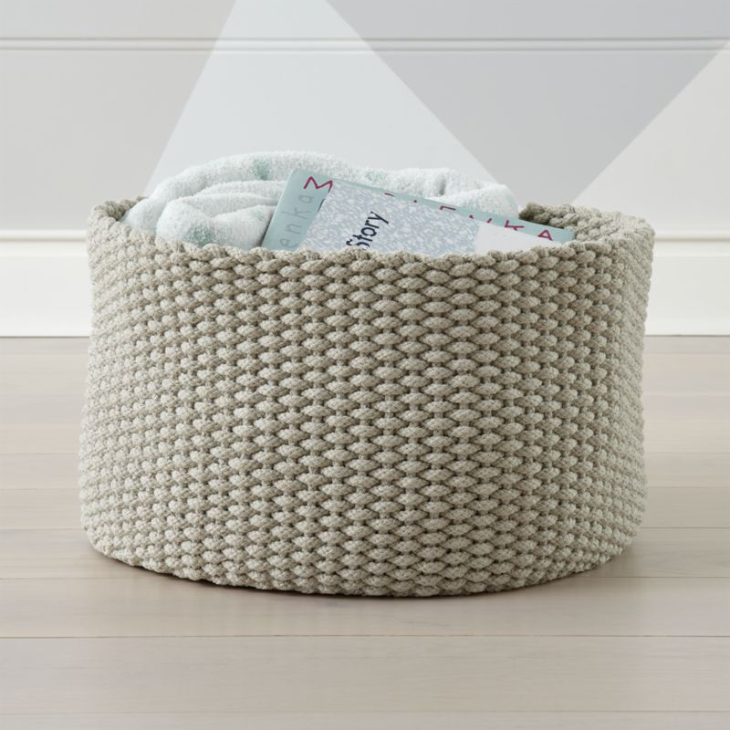 small woven wall hanging woven tray decorative woven wall.htm large khaki kneatly knit rope storage bin reviews crate and barrel  large khaki kneatly knit rope storage