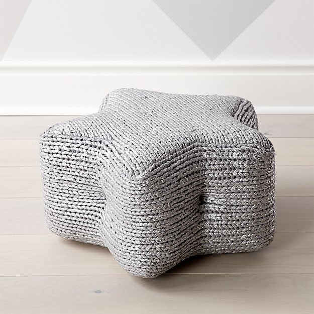 silver star pouf reviews crate and barrel. Black Bedroom Furniture Sets. Home Design Ideas