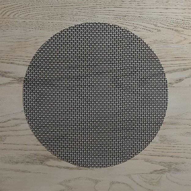 Chilewich ® Knitty Black Vinyl Placemat - Image 1 of 3