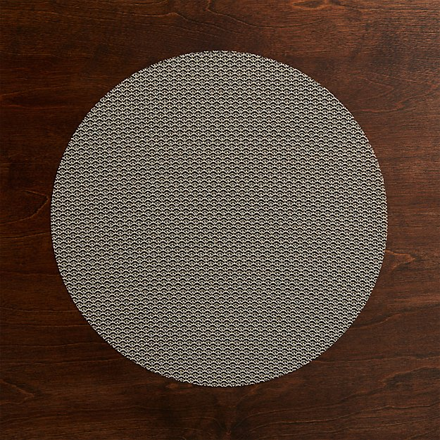 Chilewich ® Knitty Neutral Vinyl Placemat - Image 1 of 6