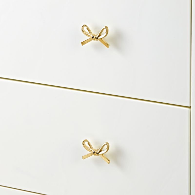 Gold Bow Knob by Crate&Barrel
