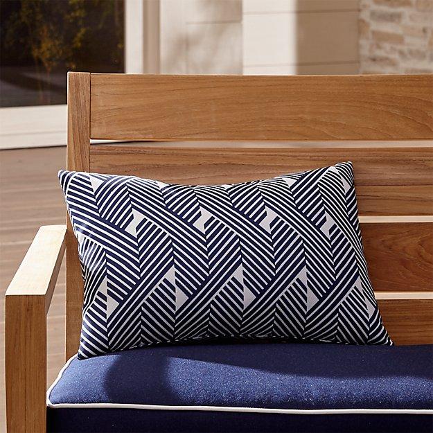 Knot Striped Outdoor Lumbar Pillow