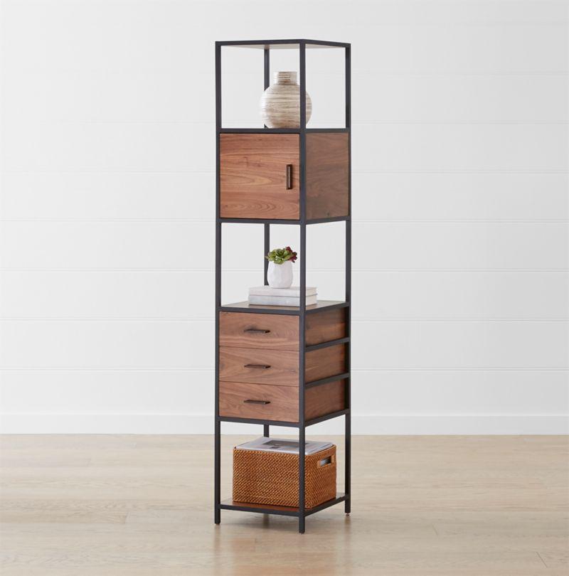 Knox Black Tall Narrow Storage Bookcase Reviews Crate