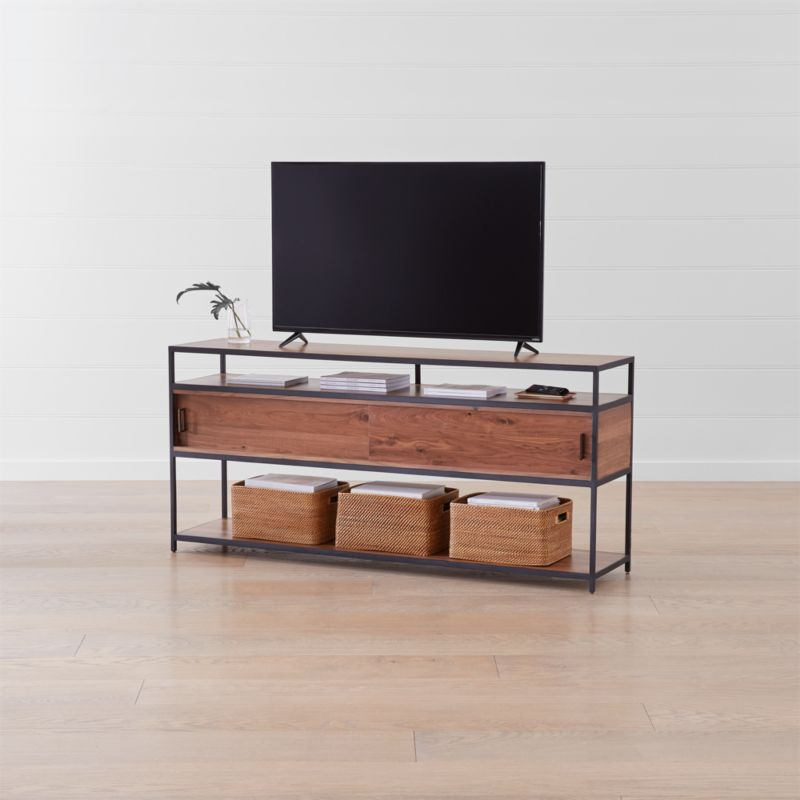 Dark Wood Tv Credenza : Seel all modern storage options tv stands