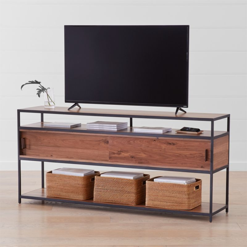 Knox Black 76 Quot Industrial Media Console Reviews Crate