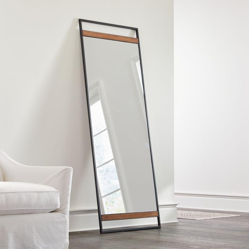 Floor Mirror Off 75 Ping, Black Large Free Standing Mirror