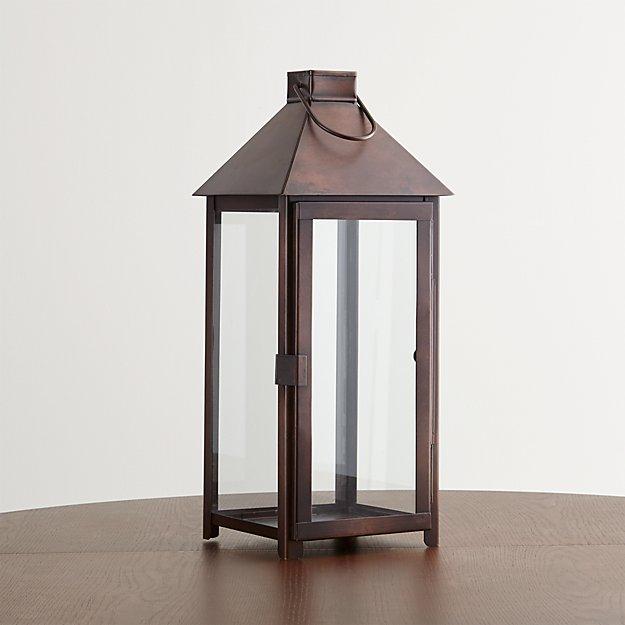 Knox Large Bronze Metal Lantern Crate And Barrel