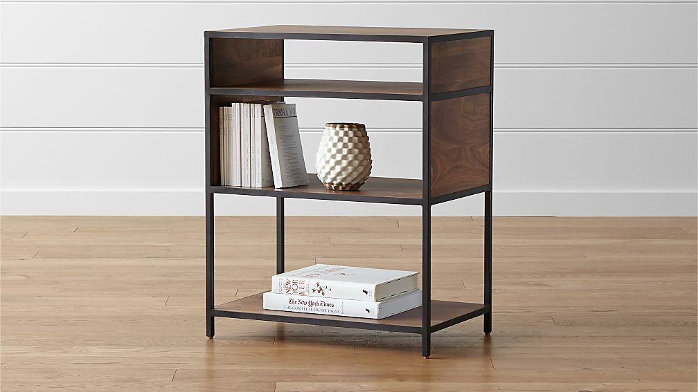 Unique Knox Low Open Bookcase + Reviews | Crate and Barrel CX55