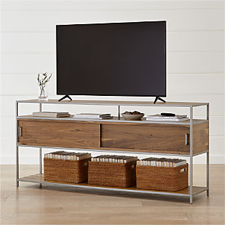 "Knox Nickel 76"" Industrial Media Console"