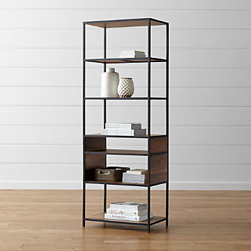 Bookcases Wood Metal And Gl Crate Barrel