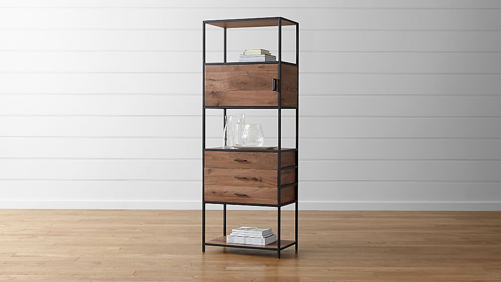 Knox Tall Storage Bookcase Crate And Barrel