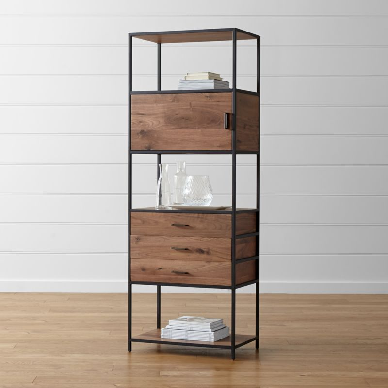knox tall storage bookcase - Colored Bookshelves