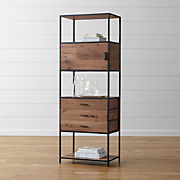 2386a76a84be Bookcases: Wood, Metal and Glass | Crate and Barrel