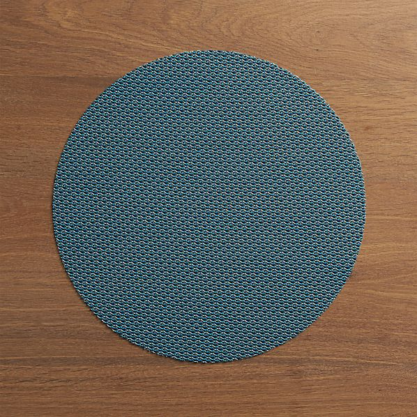 Chilewich ® Knitty Blue Placemat