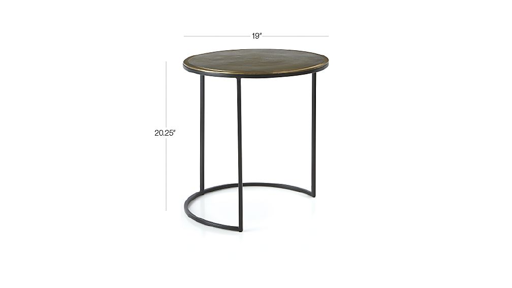 Knurl Large Accent Table : Crate and Barrel