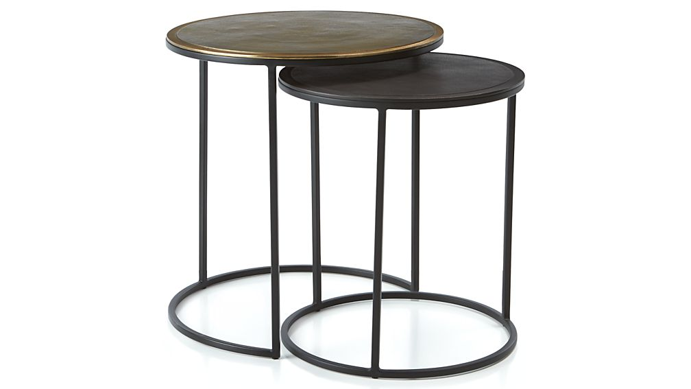 Knurl Nesting Accent Tables Set of Two + Reviews   Crate and Barrel