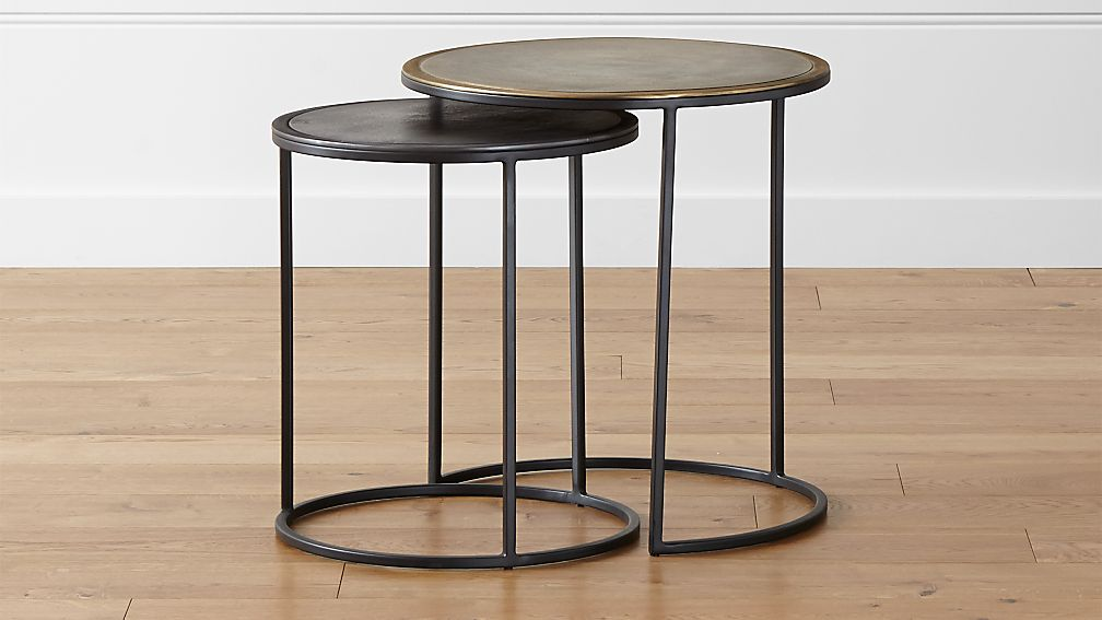 Knurl Nesting Accent Tables Set Of Two Reviews Crate And Barrel - Discount end table sets
