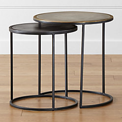 Knurl Small Accent Table + Reviews | Crate and Barrel