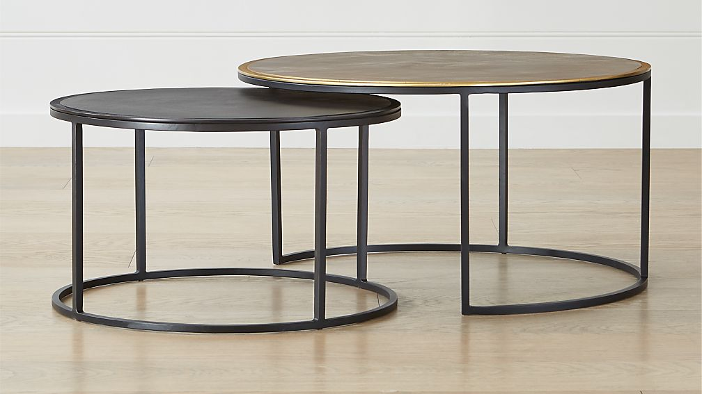 Knurl Nesting Coffee Tables Set of Two - Image 1 of 6