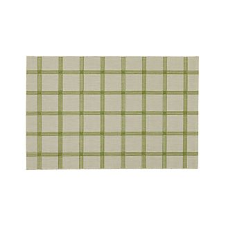 Koen Grid Green Indoor-Outdoor 4'x6' Rug