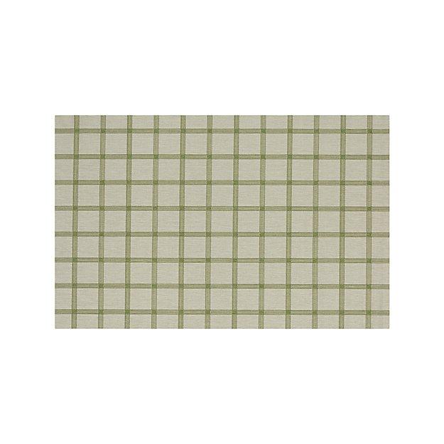 Koen Grid Green Indoor-Outdoor 6'x9' Rug