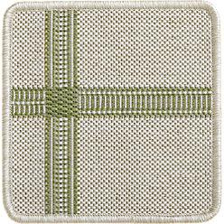 Koen Grid Green Outdoor Rug | Crate and Barrel