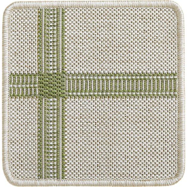 """Koen Grid Green Indoor-Outdoor 12"""" sq. Rug Swatch"""