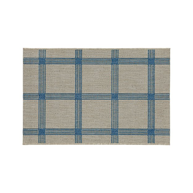 Koen Grid Sky Indoor-Outdoor 2'x3' Rug