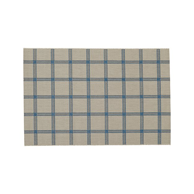 Koen Grid Sky Indoor-Outdoor 4'x6' Rug