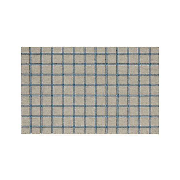 Koen Grid Sky Indoor-Outdoor 6'x9' Rug