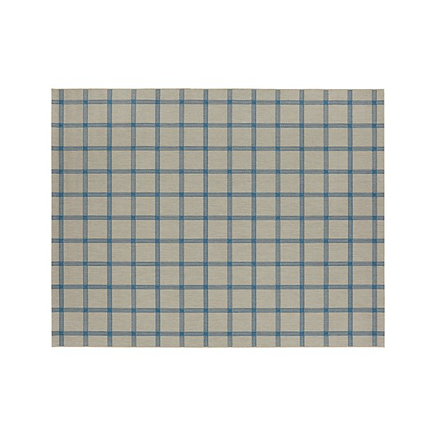 Koen Grid Sky Indoor-Outdoor 8'x10' Rug